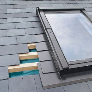 ELV/11 Fakro Single Flashing For Slate Up To 8mm Thick - 114cm x 140cm