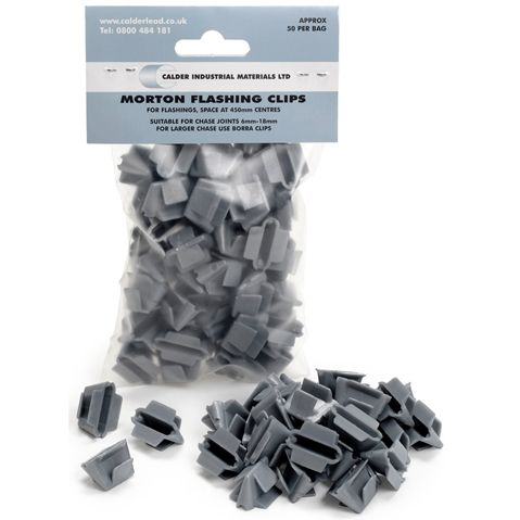 Lead Flashing Clips (Morton) Nylon  - Pack of 50