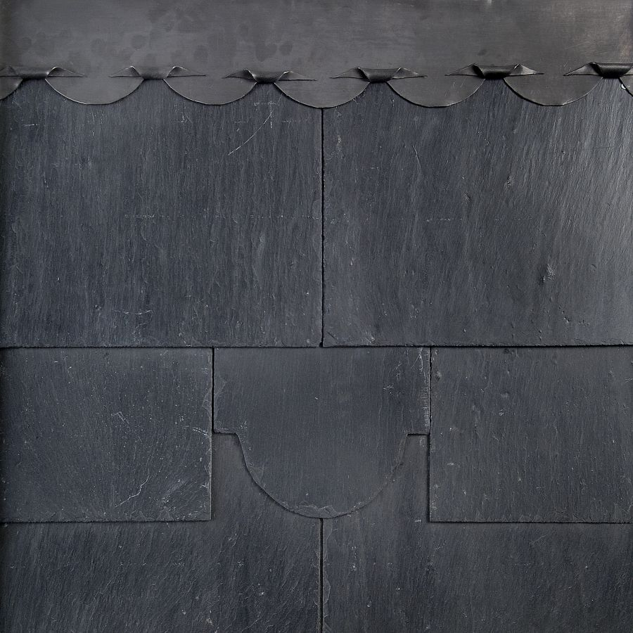 500mm x 300mm Contessa Q601 1st Quality Natural Roofing Slate - Grey