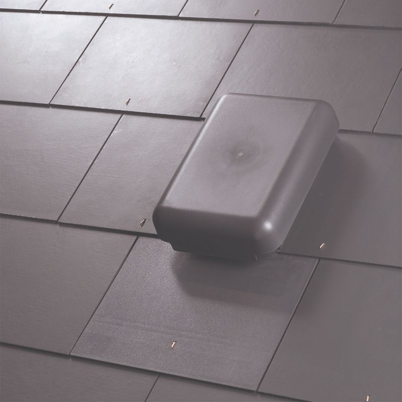 Klober Large Slate Vent  Cap Only    Slate Grey. Roof Ventilation Tiles   Klober Renown Tile Roof Vent   Grey