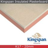 Kingspan Kooltherm K17 Insulated Plasterboard - 1.2m x 2.4m x 32.5mm