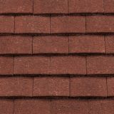 Redland Concrete Plain Roof Tile and Half - Antique Red