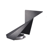 Stealth Model 235 S Steel Chimney Cowl 180mm to 235mm - Black Painted