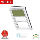 VELUX Manual Duo Blackout Blind DFD C02 4567S Olive Green/White