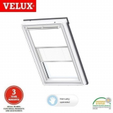 VELUX Manual Duo Blackout Blind DFD SK10 1025 - White and White