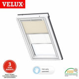 VELUX Duo Blackout Blind DFD SK10 4556 - Beige and White
