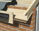 Manthorpe Sloping Soffit Vents 10000mm2 - 2.44m Brown (Pack of 10)