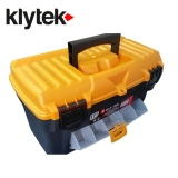 Kly-Tek Toolbox & Organiser 17'' with Drawer & Flat Lid
