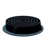 Manthorpe Round / Circular Soffit Ventilator in Blue/Black - Box of 50
