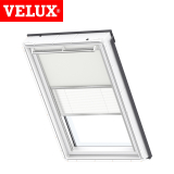 VELUX Manual Duo Blackout Blind DFD C02 1085 - Beige and White