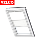 VELUX Manual Duo Blackout Blind DFD C02 1025 - White and White