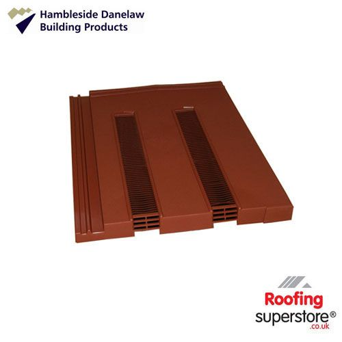 Hambleside Marley Modern/Redland Mini Stonewold Tile Vent - Ant Red