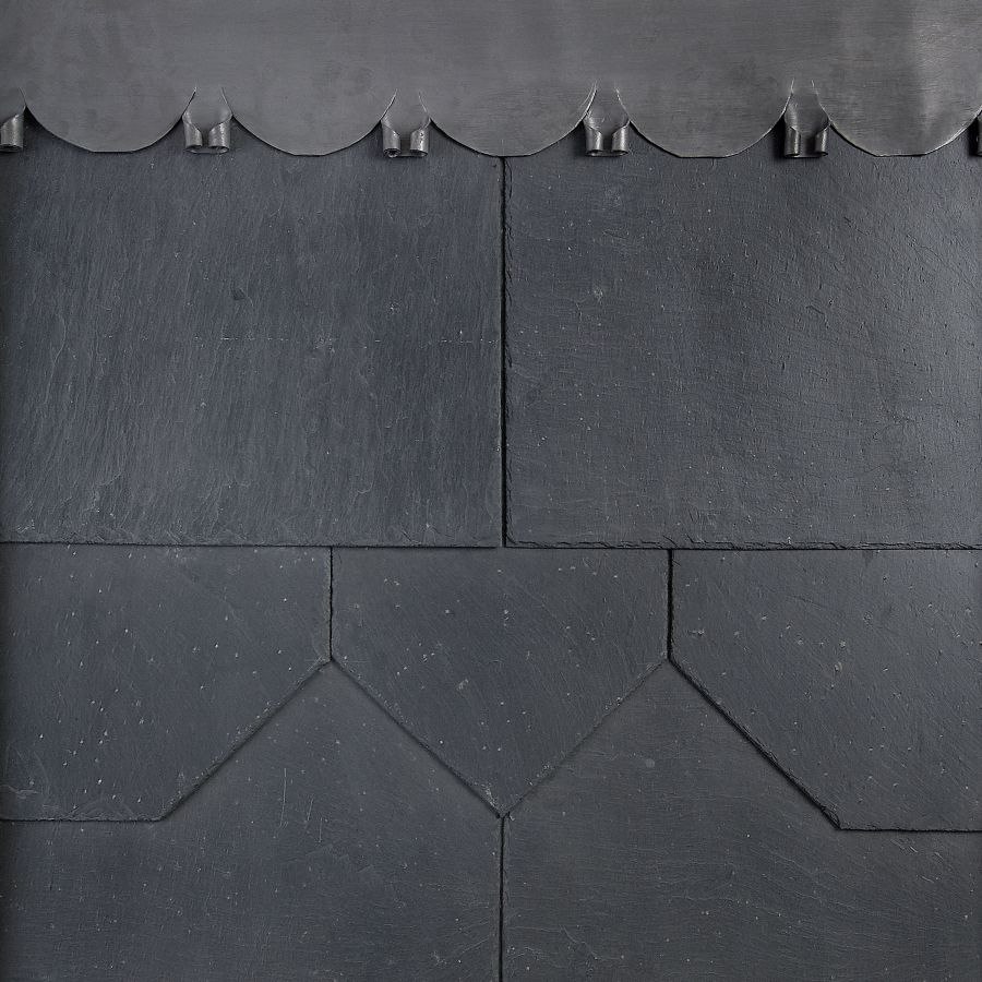 500mm x 250mm Duquesa 1st Quality Spanish Natural Slate - Blue/Black