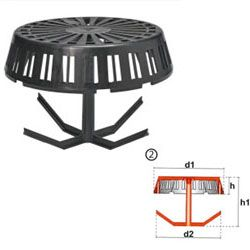 Galvanised Wire Balloon Guard For Gutters 100mm 4