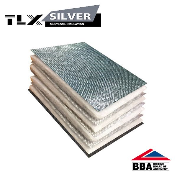 TLX Silver Roofing Multifoil Insulation (Alternative to Tri-iso)  - Thinsulex (1.2m x 10m Roll)